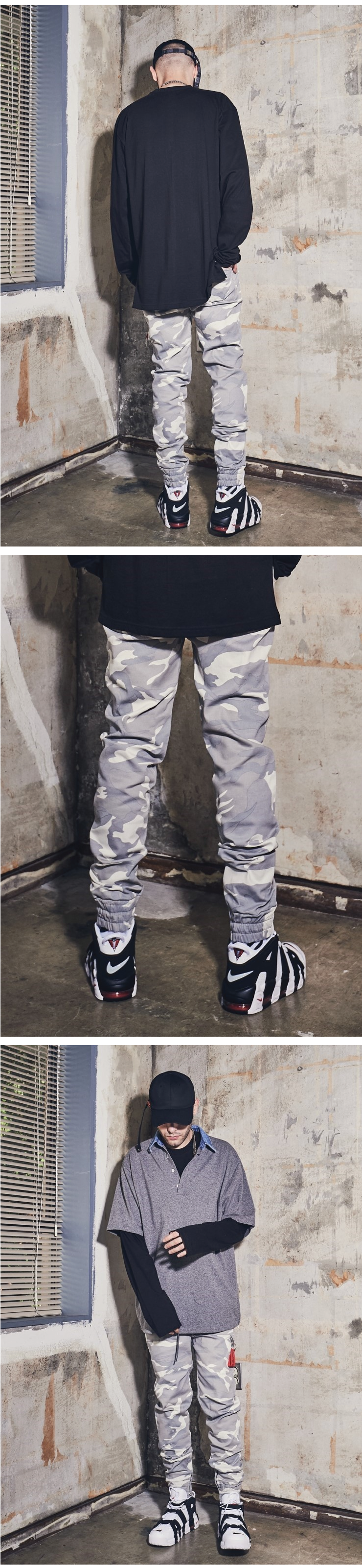 라울(LAUL) LAUL X B.T.D COMFORTABLE CAMO JOGGER PANTS SNOW CAMO 라울 컴포터블 카모조거팬츠 스노우 카모