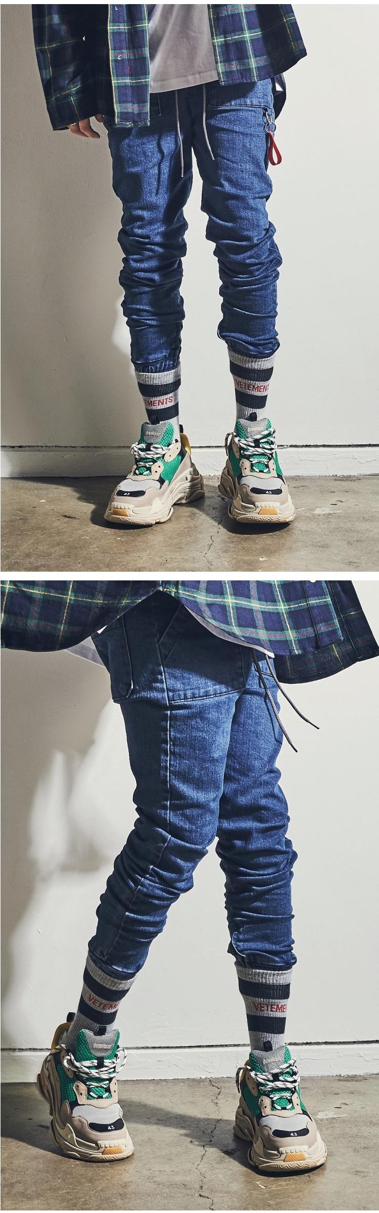 (단독가)라울 LAUL X B.T.D COMFORTABLE DENIM JOGGER PANTS 라울 컴포터블 데님 조거팬츠