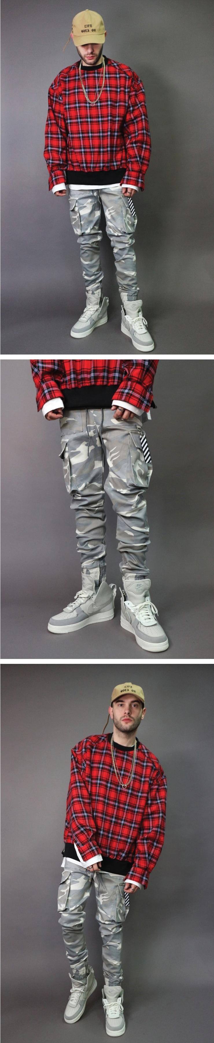 라울(LAUL) COMFORTABLE CARGO JOGGER CAMO PANTS SNOW CAMO 컴포터블 카고 조거팬츠 스노우카모